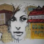 60 Lisboa graffiti Italiani a Lisbona foto