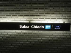 Metro Lisboa Baixa-Chiado PT Bluestation nome foto lisbona metropolitana