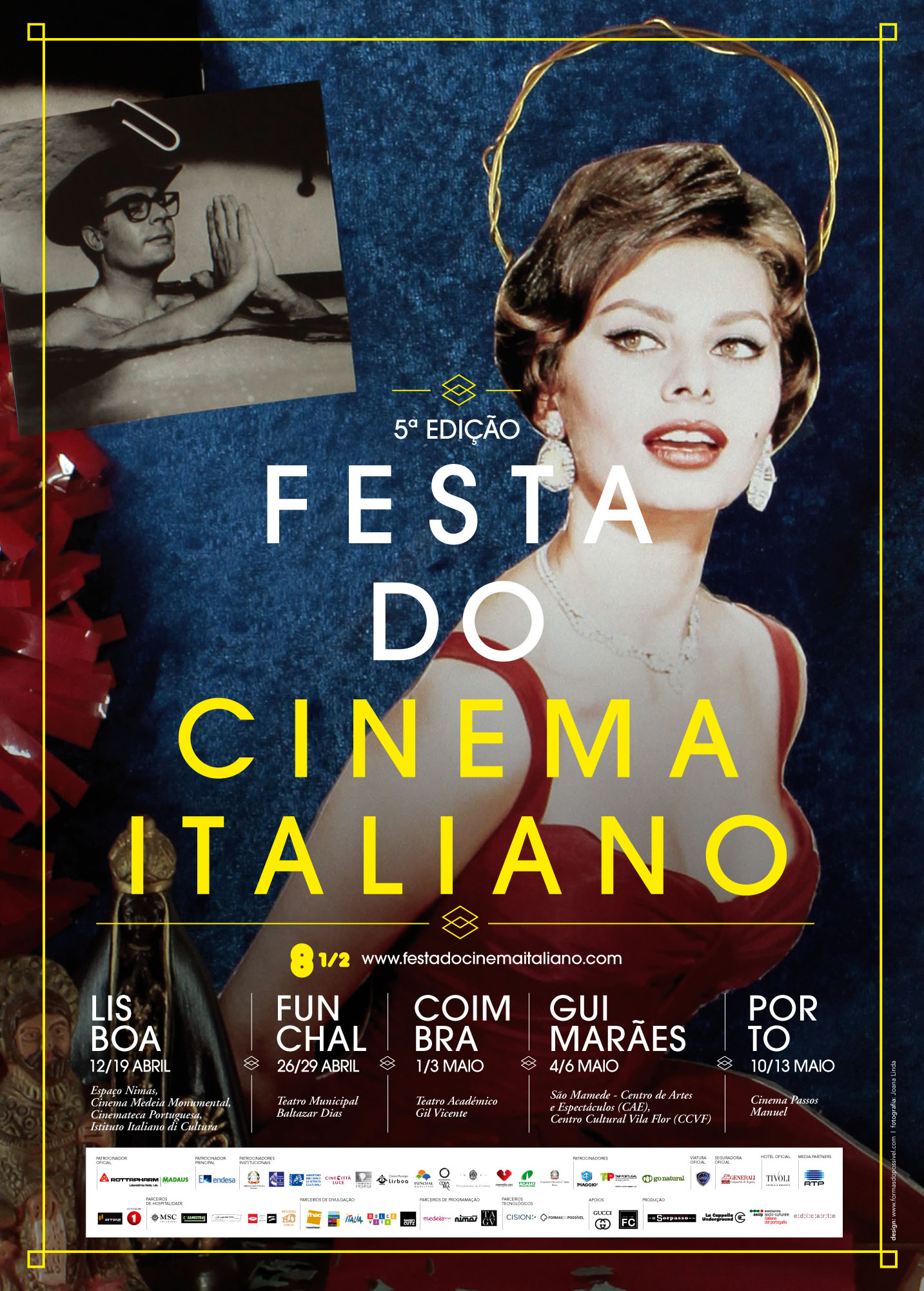 Cartaz 5ª ed. Festa do Cinema Italiano Lisbona 2012