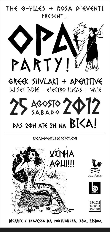 OPA_Party Bica 25 agosto aperitivo lisbona souvlaki greco