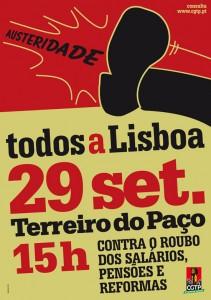29 settembre manif Lisboa portogallo lisbona manifestazione
