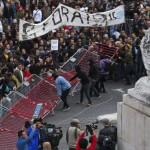 Manifestazione parlamento Lisbona