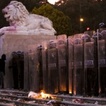 Manifestazione parlamento portoghese lisbona