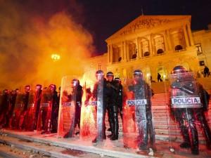 Sciopero e manifestazione del 14 novembre a Lisbona scontri incidenti
