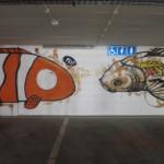 56 Lisboa graffiti Italiani a Lisbona foto