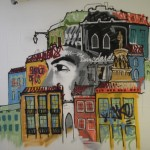 58 Lisboa graffiti Italiani a Lisbona foto