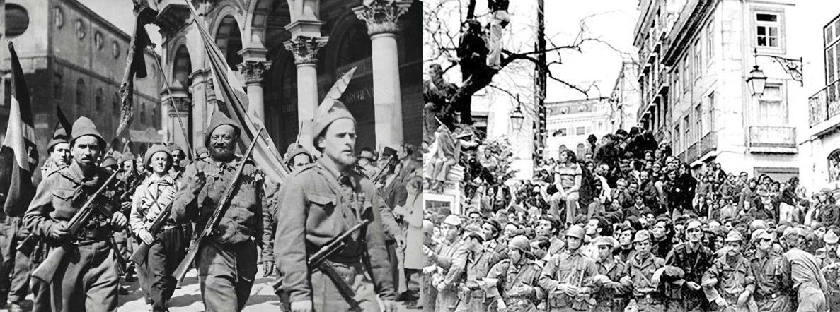 25 aprile 1945 e 1974 italia portogallo resistenza liberazione rivoluzione dei garofani partigiani